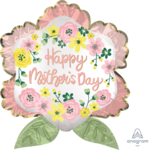"""Foil Balloon - Flower - Happy Mother's Day - 27"""""""