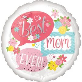 "Foil Balloon - Bubbleis - Best Mom Ever - 18"""