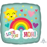 """Foil Balloon - Love You Mom - Rainbow -  18"""""""