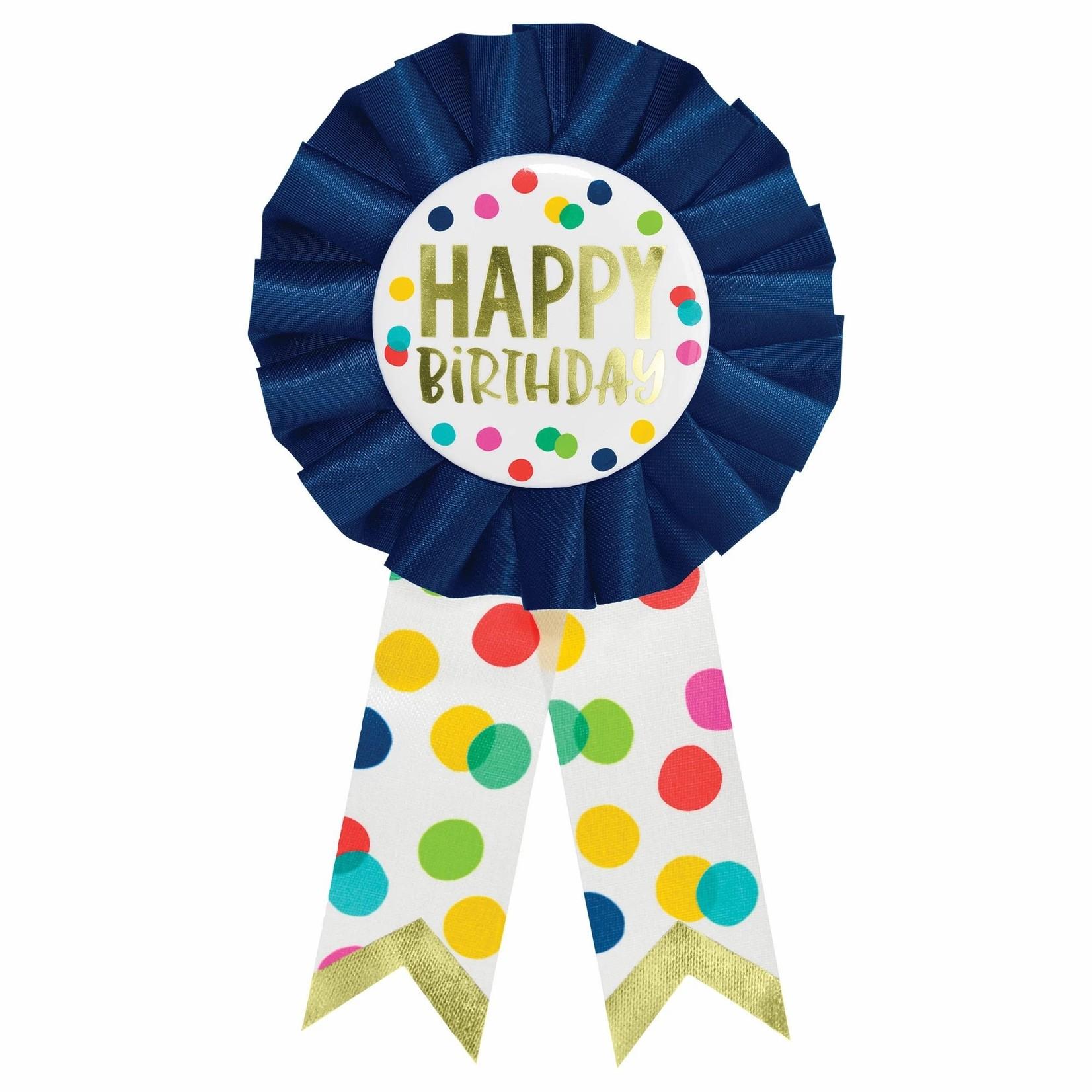 Award Ribbon - Happy BDay Dots