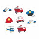 Tattoos - First Responders 8 pc