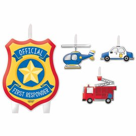 Birthday Candle Set - First Responders - 4pc