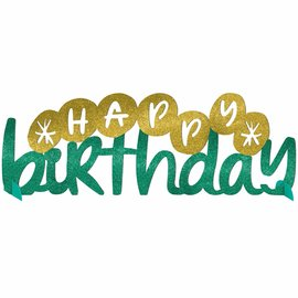 Table Decoration - Glitter - Happy Cake Day - 1pc