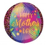 """Foil Balloon - Orbz - Tropical - Happy Mother's Day - 15"""""""
