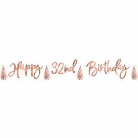 Banner  - Happy Birthday - Rose Gold Kit
