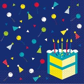Napkins - LN - Peppy Birthday - 16ct