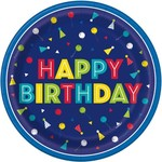 "Plates - LN - Peppy Birthday - 9"" -  8pcs"