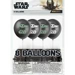 Balloons Latex - Star Wars/Mandalorian - 12'' - 8 pk