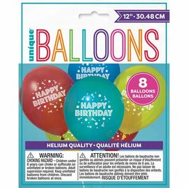 "Latex Balloons - HB - 12"" - 8pk"