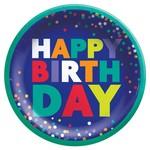 Plates - Bev- Bold Happy Birthday - 8pcs