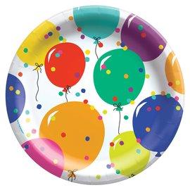 Plates  - LN - Party Balloons - 8 pk