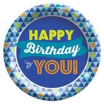 Plates - LN  - True Blue Birthday - 8 pk