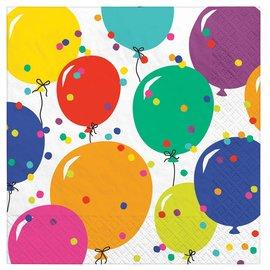 Napkins - LN - Party Balloons - 2 ply - 16pk
