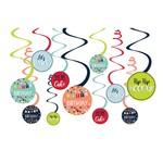 Swirl Decorations - Reason to Celebrate - 12 pcs