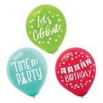 "Balloons - Latex - Reason to Celebrate - 12"" - 15 pcs"