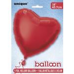 Foil Balloon - Red Heart - 18''