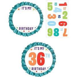 Button - Customizable - Primary Birthday