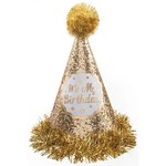 Cone Hat - Gold Birthday - 1pc