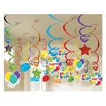 Swirl Decorations - BDAY - 50 pcs
