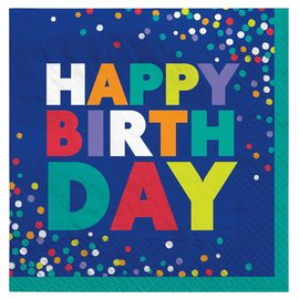 Napkins  - LN - Bold Birthday  - 16 PK - 2ply