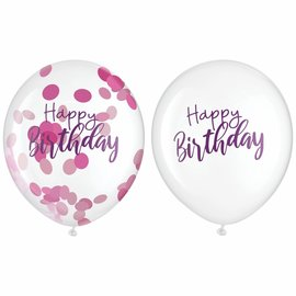Balloons - latex - Sparkle HBD  with Confetti