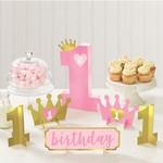 Table Decorating Kit - 1st birthday - Pink