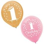 "Balloons - latex - 1st BDAY - 12"" - 15 pcs"