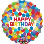 Foil Balloon - HBD - Primary Rainbow
