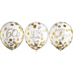 Balloons Latex Golden Age - 60th BDAY