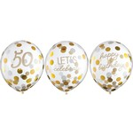 Balloons Latex Golden Age - 50th BDAY