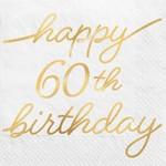 Napkins Bev Golden Age -60th Birthday