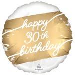 Foil Balloon - Golden Age - 30th BDAY