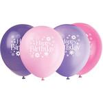 Balloons - Latex  - Blossom BDAY - 8 pk