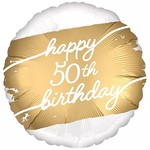 "Foil Balloon - Golden Age - 50th Birthday - 18"""