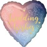 "Foil Balloon - Wedding Wishes - 18"""