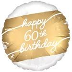 "Foil Balloon - Golden Age - 60th Birthday - 18"""