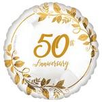 """Foil Balloon - 50th Anniversary - 18"""""""