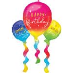 Foil balloon - Birthday Fun Balloons Super Shape