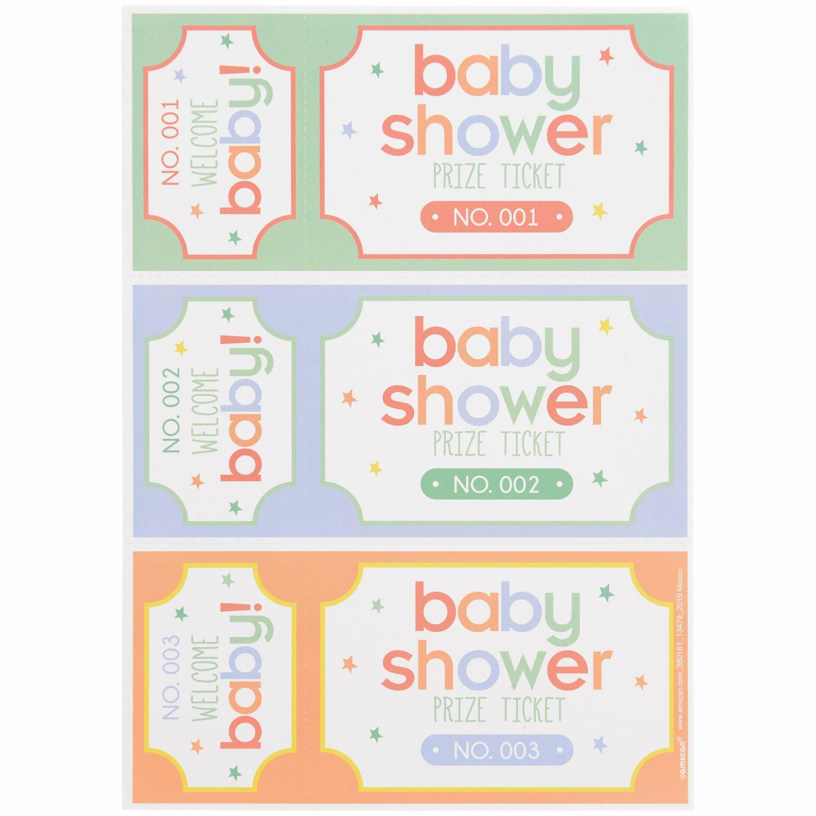Baby Shower - Prize Tickets - 16 Sheets