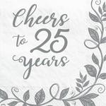 Napkins - Bev - 25th Anniversary - 16 pk
