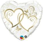 Foil Balloon - Double Heart - 18'