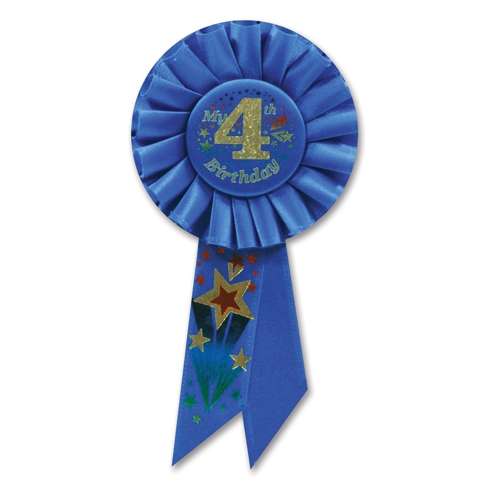 Award Ribbon - My 4th Birthday