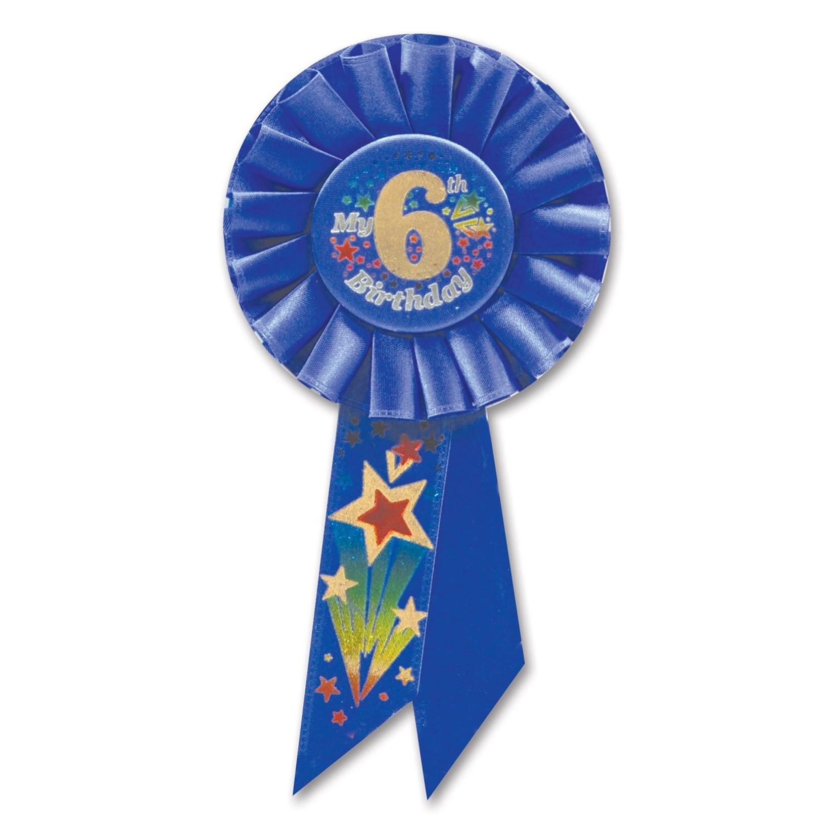 Award Ribbon - My 6th Birthday