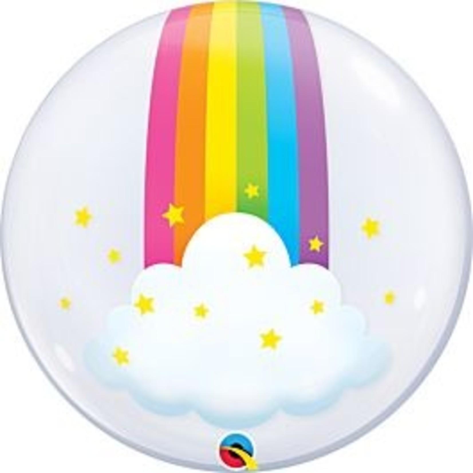 "Balloon - Bubble Deco - Rainbow - 22"""