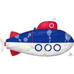 "Foil Balloon Super Shape  - Iridescent Submarine - 34"""