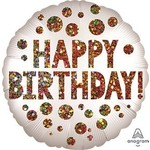 Foil Balloon Super Shape - Sequins Birthday - Jumbo