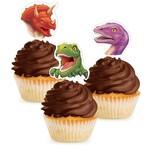 Cupcake Toppers-Dino Blast-12pkg