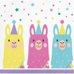 Beverage Napkins-Llama Party-16pk-2ply