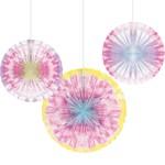 Paper Fans - Tie Dye - 3pcs