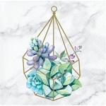 Napkins - Bev - Geometric Succulents - 16 pk - 2 ply